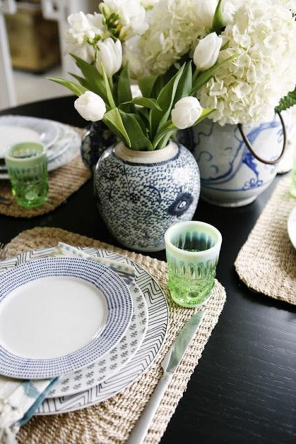 festliche tischdeko ideen tischdeko mit tulpen weiß