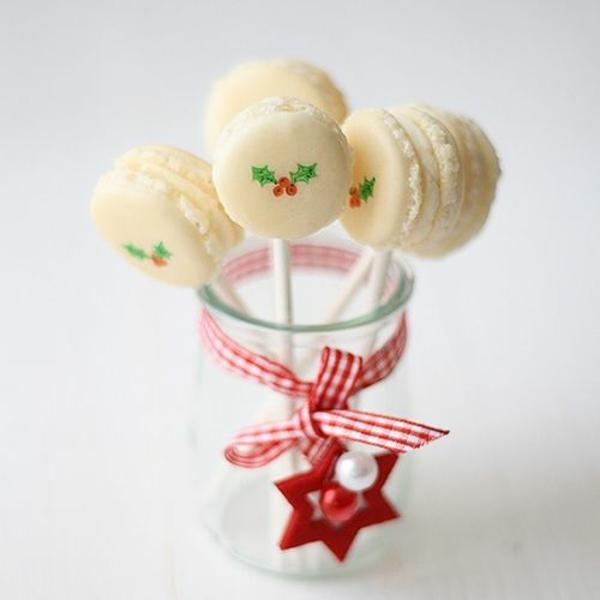 tischdeko weihnachten besten Weihnachtsplätzchen lutscher weiß schokolade