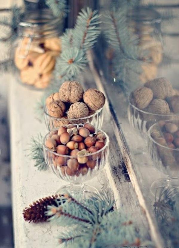 weihnachten festliche tischdeko besten Weihnachtsplätzchen nüsse