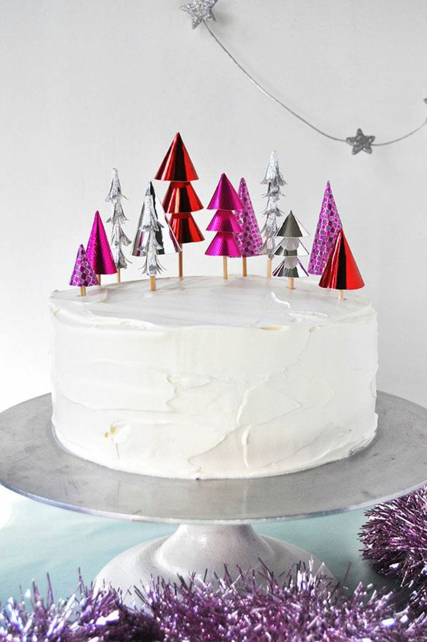 festliche tischdeko weihnachten besten Weihnachtsplätzchen torte sahne
