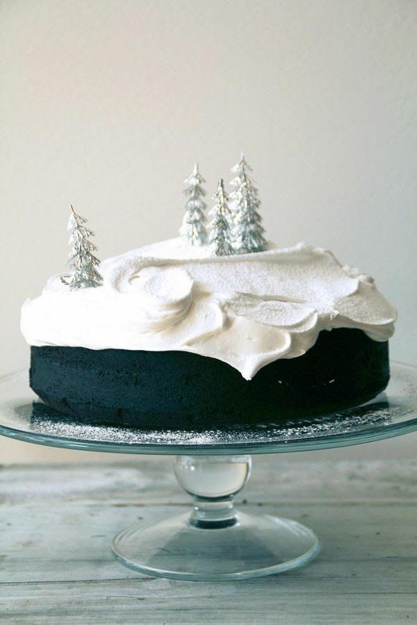 festliche tischdeko weihnachten silbern weiß schnee besten Weihnachtsplätzchen