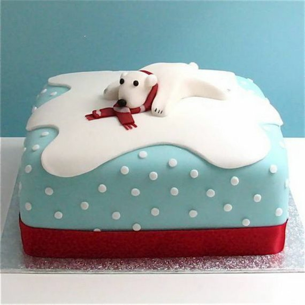 festliche tischdeko weihnachten die besten Weihnachtsplätzchen weiß bär