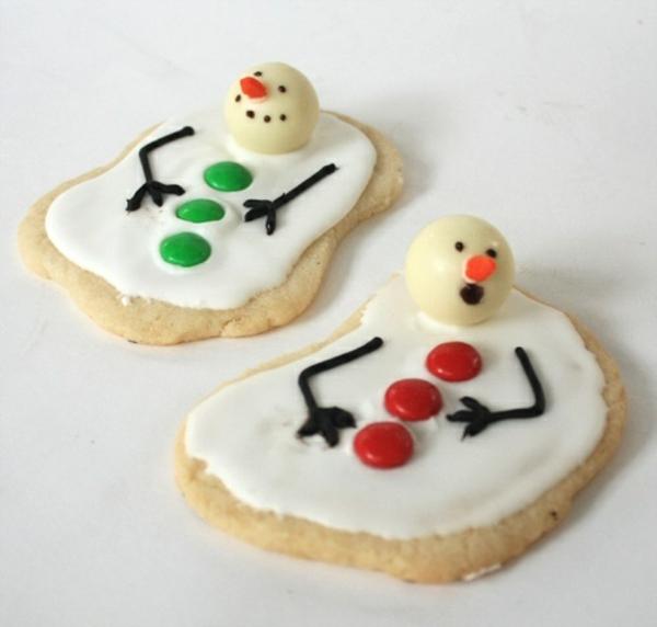 festliche tischdeko weihnachten einfache plätzchen backen schmelzen