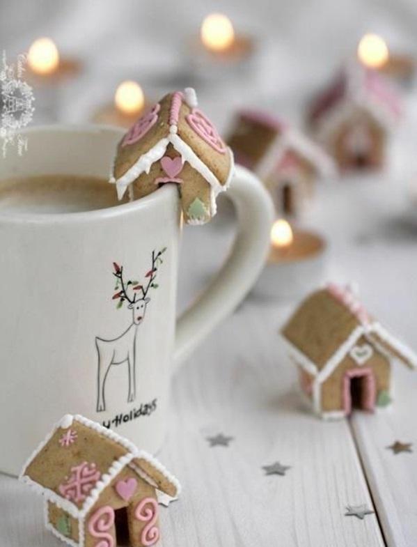 festliche tischdeko weihnachten einfache plätzchen backen warm getränk