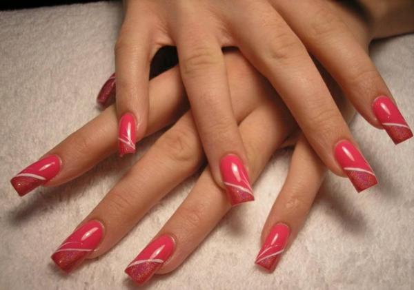fingernägel bilder schlichte nägel pink