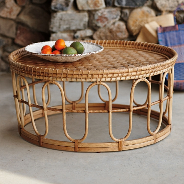 Preview for Rattan couchtisch