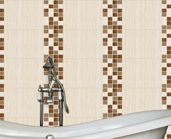 Badezimmer Braun Creme Mosaik Muster Bad Deeviz For   Badezimmer Braun Creme