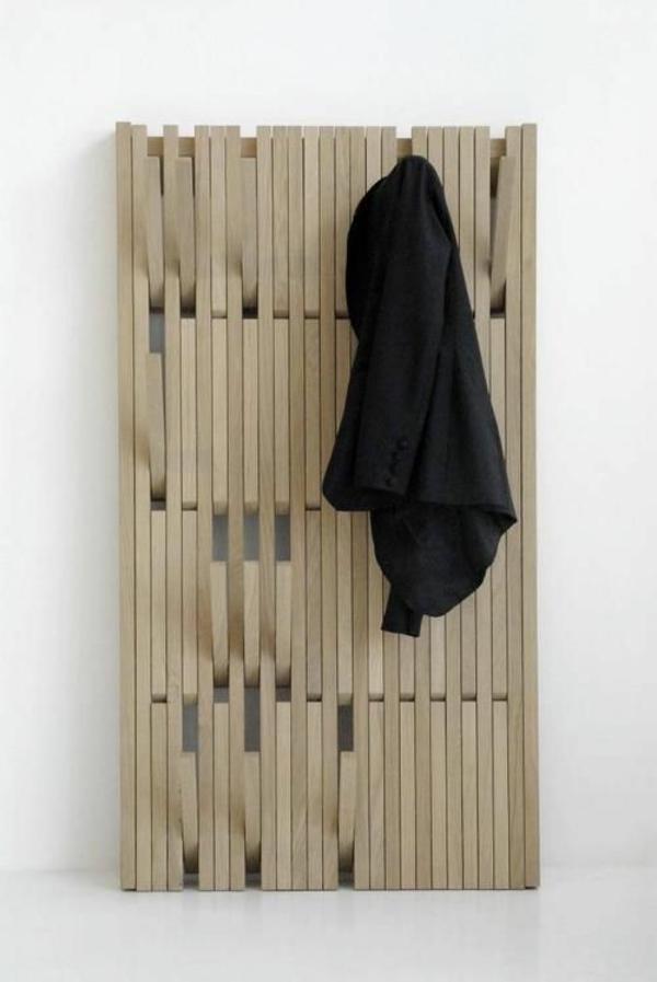 flur gestalten möbel holz regal kleiderständer ankleidezimmer regalsysteme