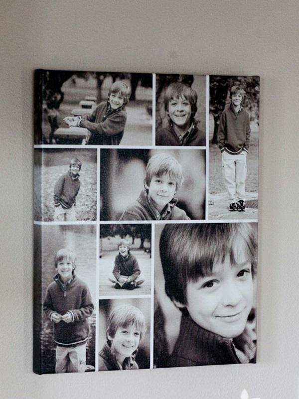 100 fotocollagen erstellen fotos auf leinwand selber machen - Collage auf leinwand basteln ...