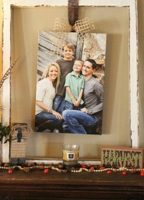 fotocollage fotoleinwand diy selber machen familie jung