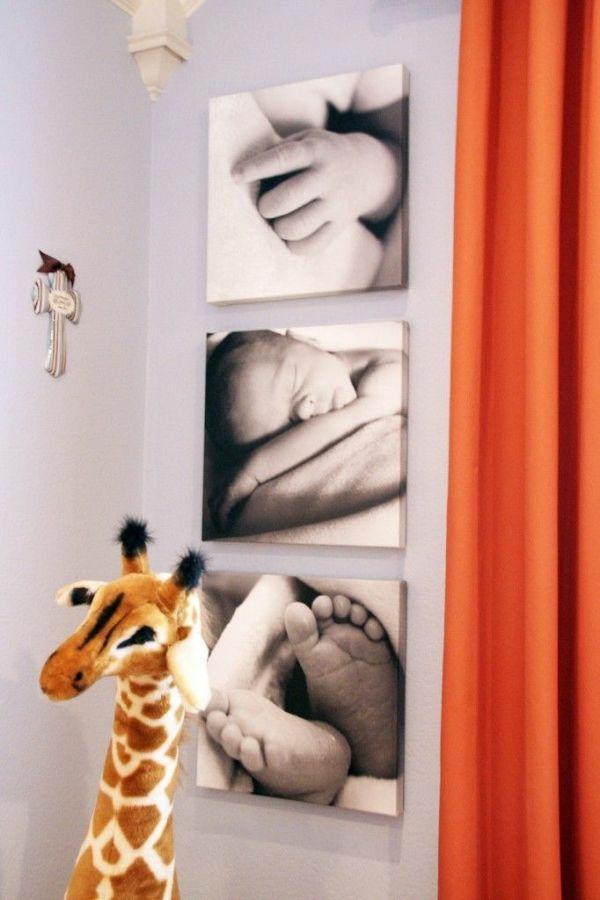 fotocollage fotoleinwand diy selber machen giraffe