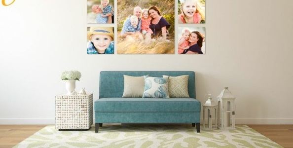 fotocollage fotoleinwand diy selber machen sofa kissen