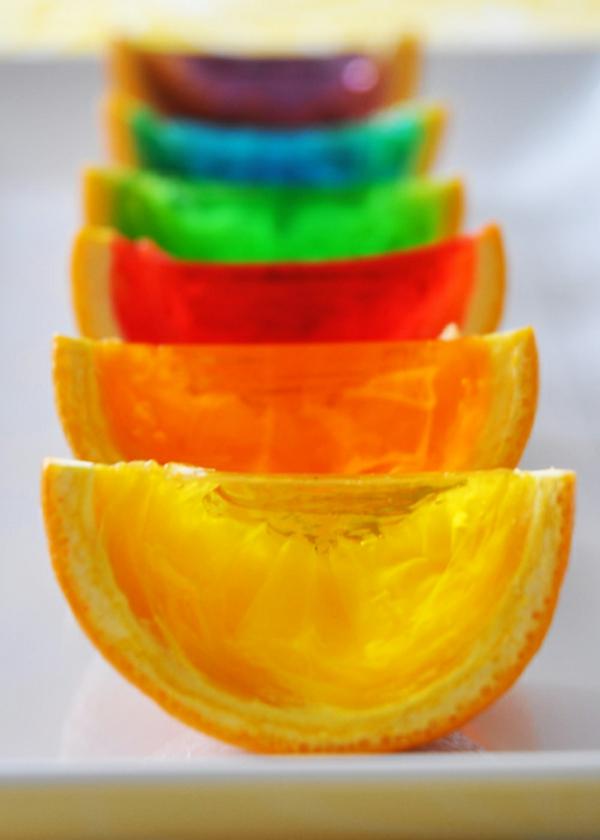 Wassermelonen bunt farbe frische Orangen