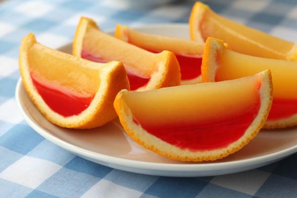 frische Orangen farben Wassermelonen