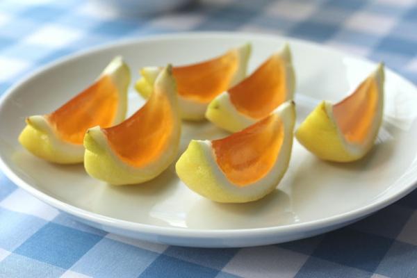 frische Orangen gelatine Wassermelonen gelee originell