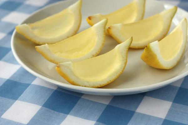 frische Orangen und Wassermelonen gelee zitronen