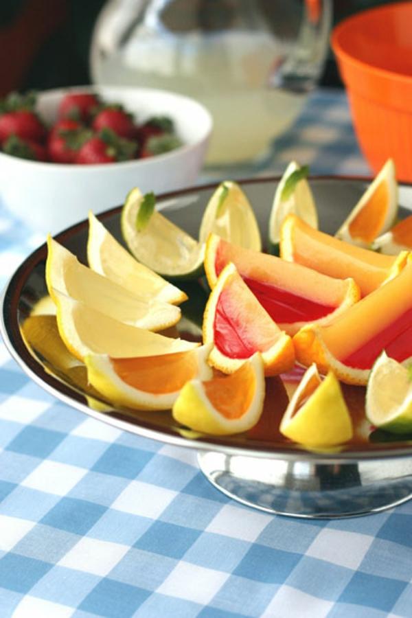 frische Orangen und Wassermelonen gelee
