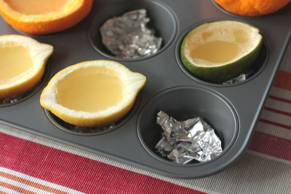 frische Orangen und Wassermelonen zitronen formen