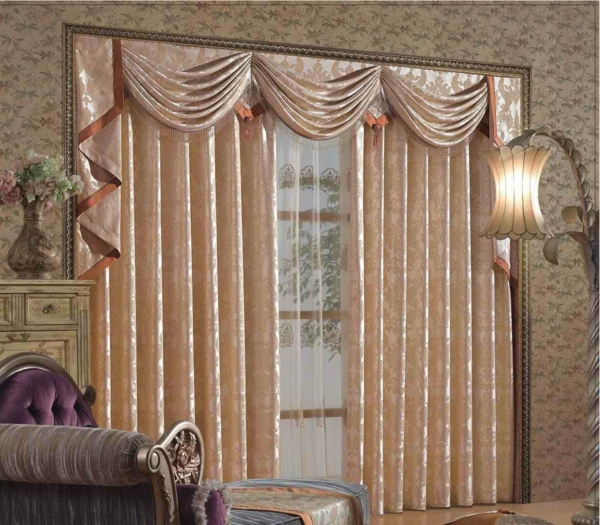 neobarock wohnzimmer:Gardinen Dekorationsvorschläge – Tipps und Bilder für Ihr Zuhause