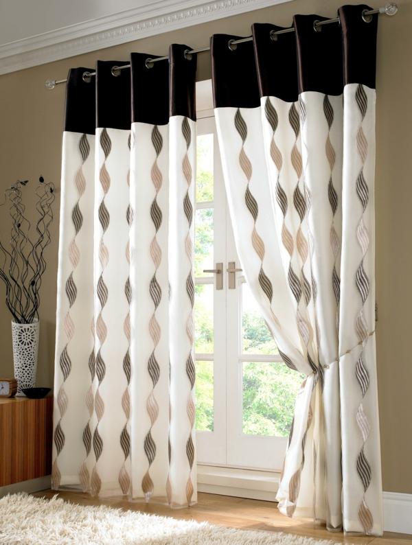gardinen dekorationsvorschlge spirallenmuster - Braun Gardinen