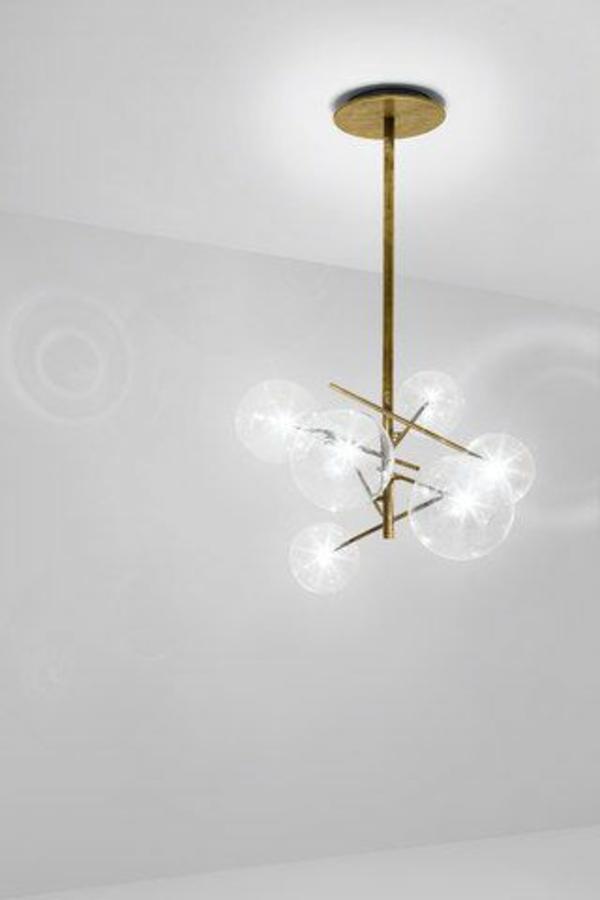 wings of wind moderne glaskugel e27 leuchter h ngendes. Black Bedroom Furniture Sets. Home Design Ideas