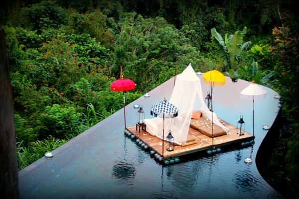 hängend garten indonesien infinity pool