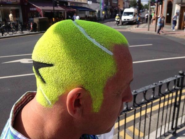 haarschnitt frisur kurz tennis ball