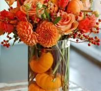 70 Herbstblumen als dekorative Blumenarrangements