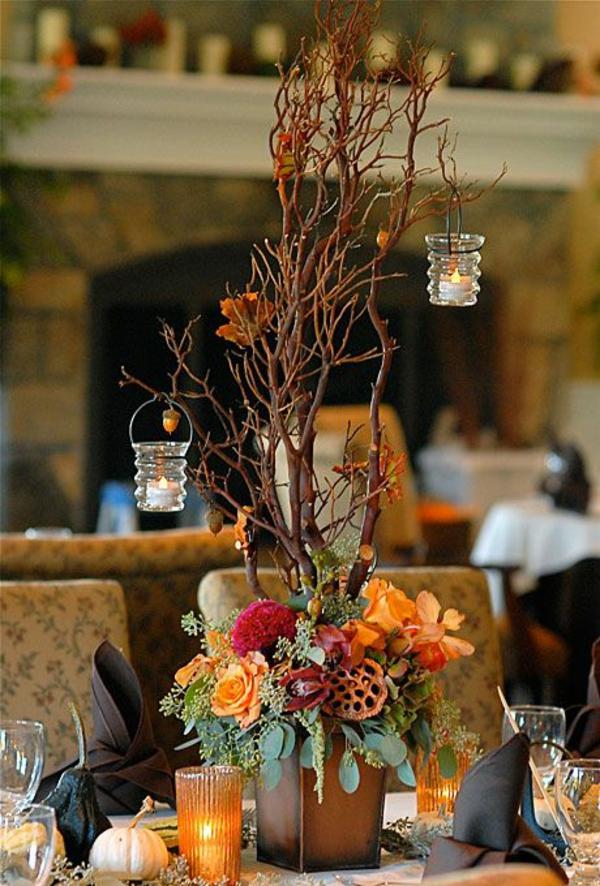herbstblumen kerzen dekorativ balkon ernte