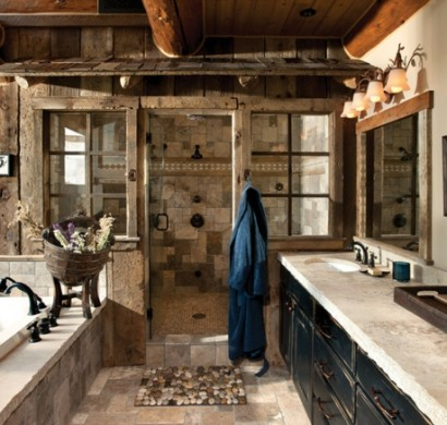 Holz im badezimmer landhausstil im bad f r entspannende for Cowgirl bathroom ideas