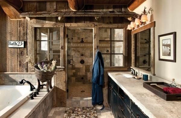 Holz im Badezimmer – Landhausstil im Bad für warme, entspannende ...