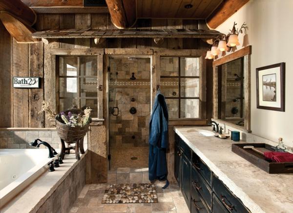 Tapeten Amerikanischer Landhausstil : Holz im Badezimmer ? Landhausstil im Bad f?r warme, entspannende