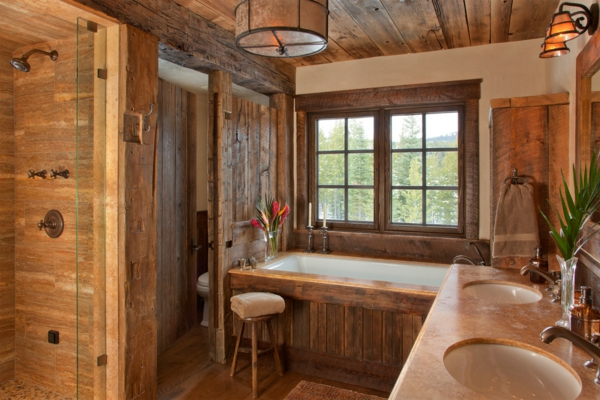 Holz im badezimmer accessoires holz platten