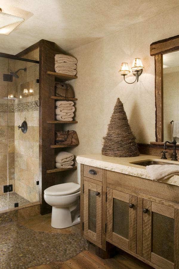 Rustikale Badezimmer bad rustikal gestalten design