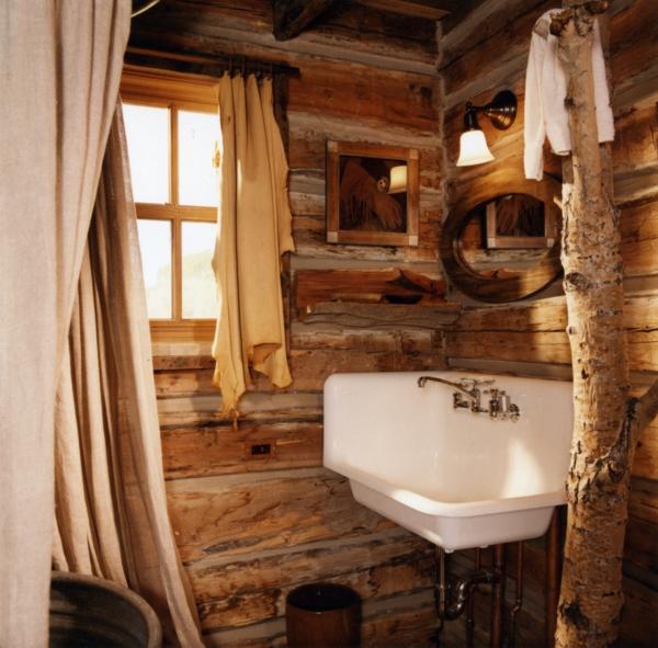 holz ländlich badezimmer accessoires  spüle fenster