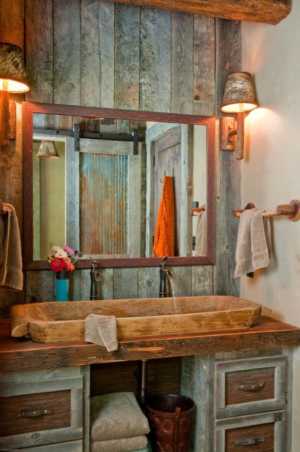Holz Badezimmer Accessoires Symmetrie