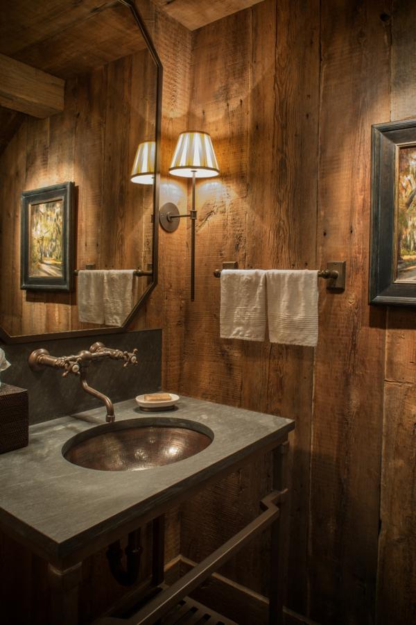 holz im badezimmer landhausstil im bad f r entspannende atmosph re. Black Bedroom Furniture Sets. Home Design Ideas
