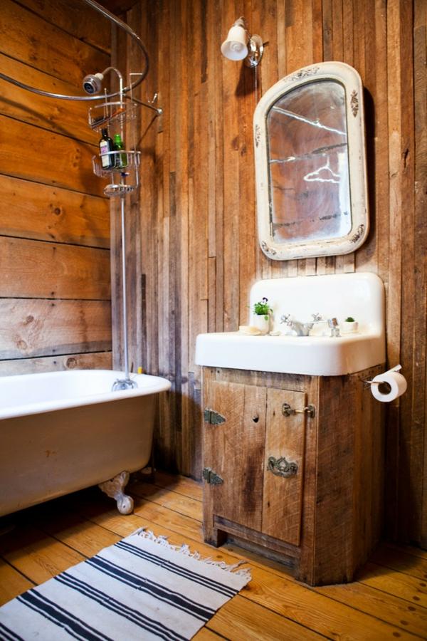 holz im badezimmer landhausstil im bad f r entspannende. Black Bedroom Furniture Sets. Home Design Ideas