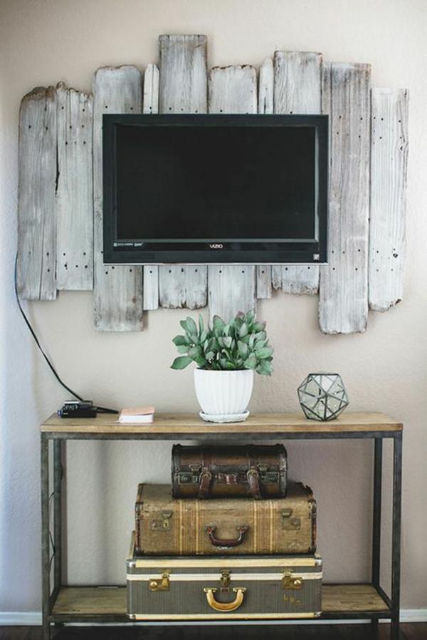 holzbalken wohnzimmer rustikal wohnzimmermöbe holz wohnwand