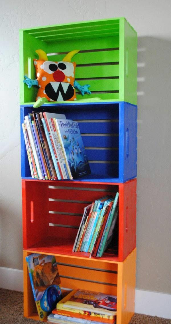 Bücherregal kinderzimmer selber bauen  Holzregal bauen oder einfach kaufen - verschiedene Holzmöbel-Modelle