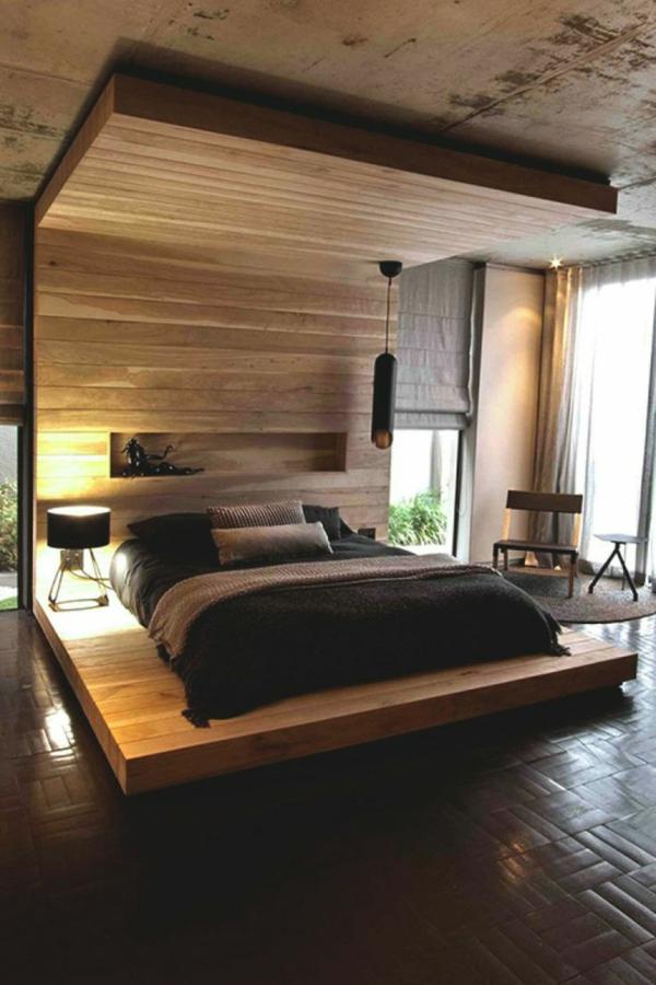 holzplattform bett feng shui schlafzimmer einrichten