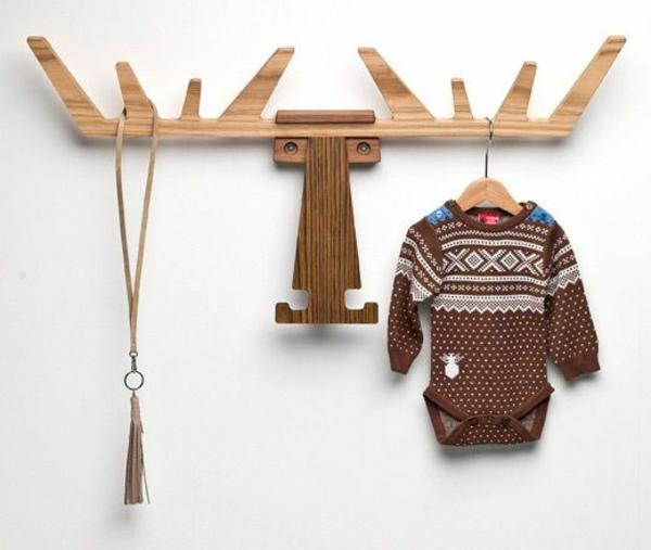 holz regal bauen wandregal kinderzimmer möbel kleiderhaken