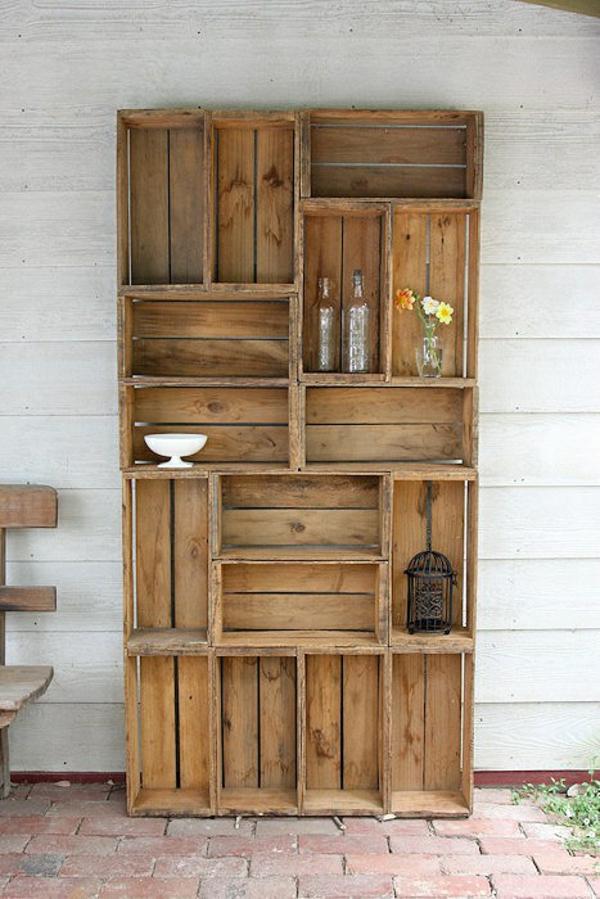 Holzregal bauen oder einfach kaufen verschiedene holzm bel modelle - Mobel aus holzkisten ...