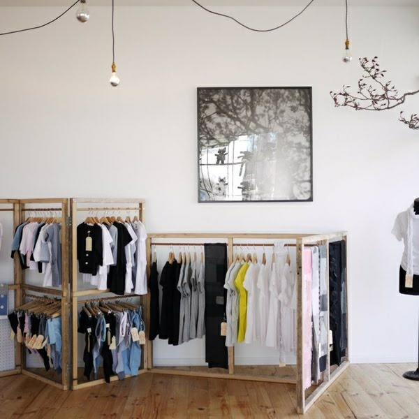 holz regal bauen holzmöbel kleiderständer ankleidezimmer regalsysteme
