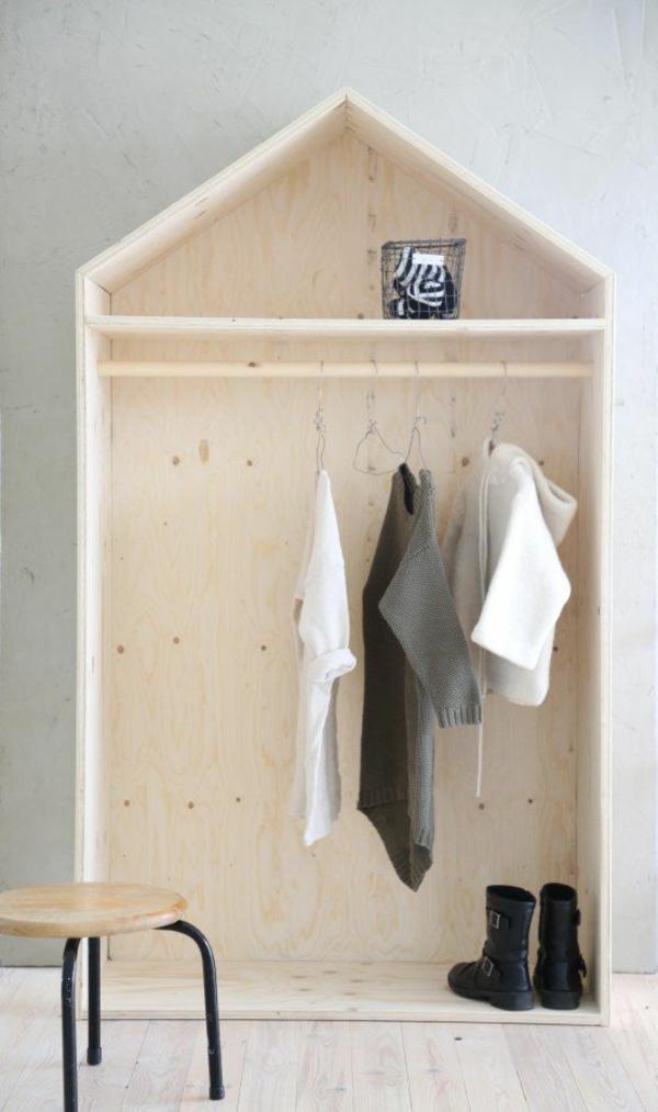 holz regal bauen kleiderständer ankleidezimmer regalsysteme holzmöbel