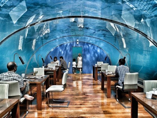 hotel maldives unterwasser restaurant