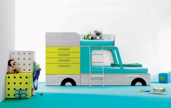 kinderzimmer gestaltung - grelle farbtöne clever einsetzen - Kinderzimmer Grun Und Blau