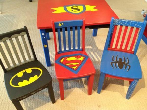 kinderzimmer gestaltung batman superman spiderman