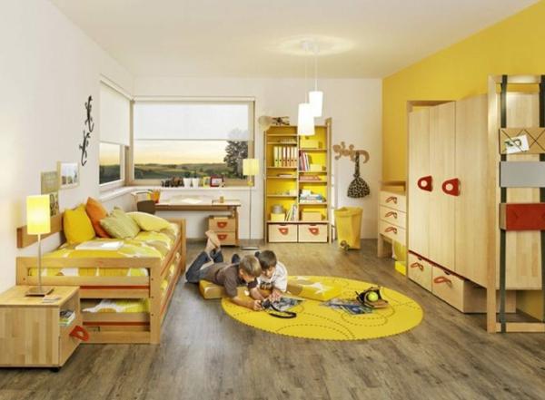 idee kinderzimmer gestaltung doppelbett zwei kinder