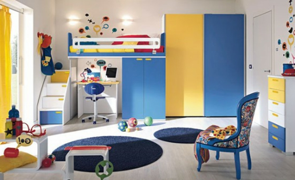 kinderzimmer gestaltung grelle farbt ne clever einsetzen. Black Bedroom Furniture Sets. Home Design Ideas